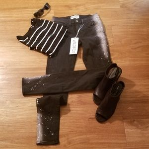 Wildfox Marianne Mid Rise Skinny Size 24